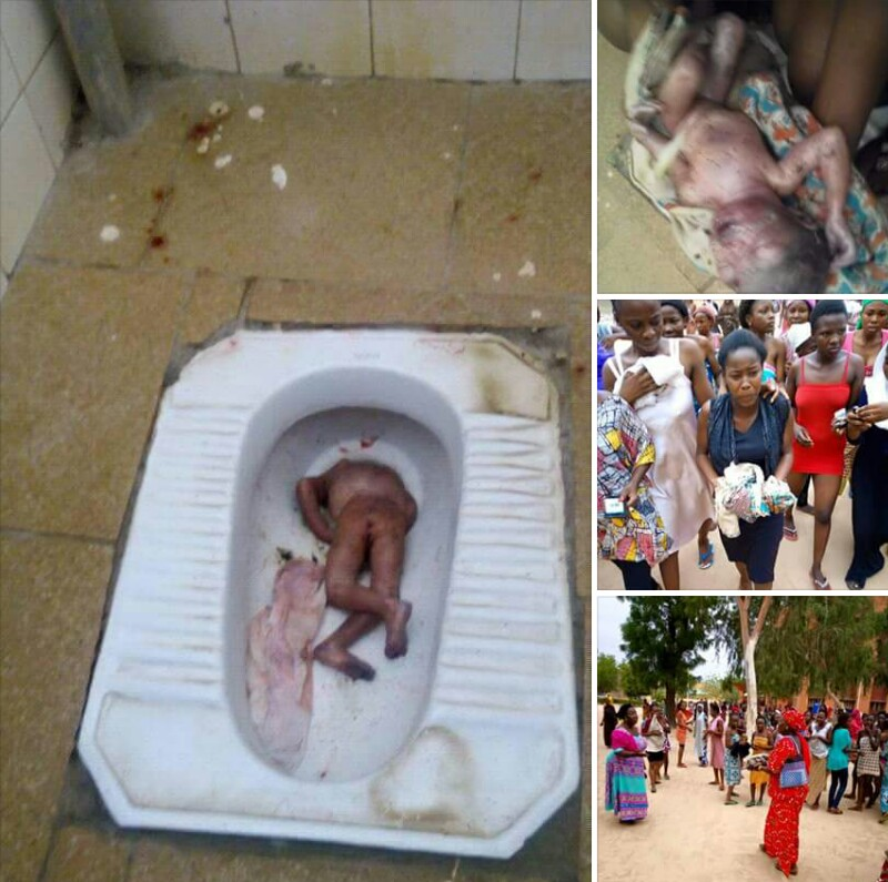 Shocking! Student attempts to flush baby in toilet