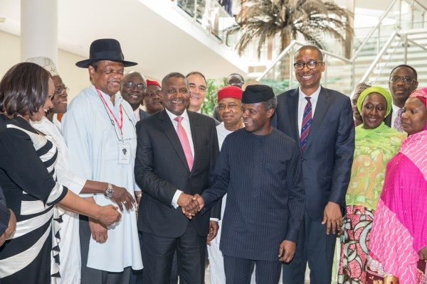 Osinbajo appoints Dangote, Peterside, 34 others into Advisory Council Full list]