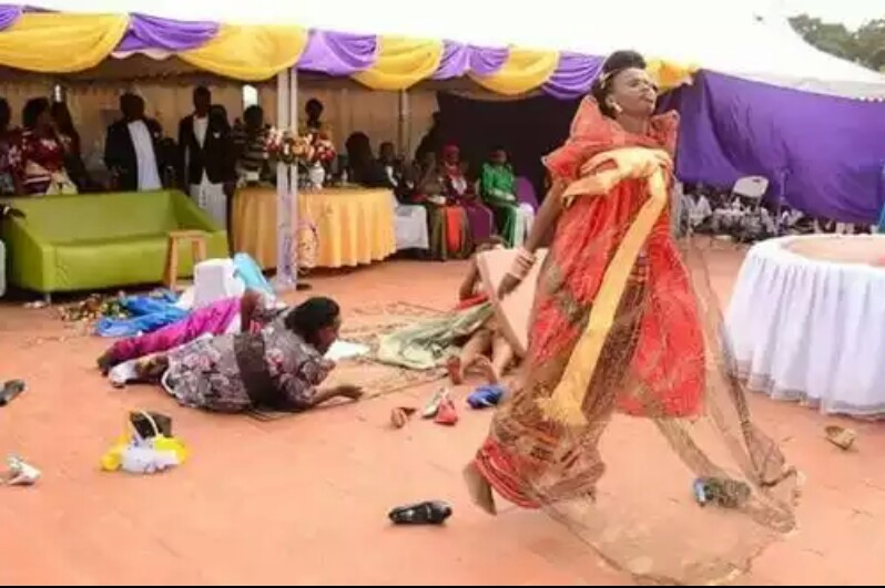 Bride Strips At Her Wedding After Being Allegedly 'Attacked By Ghosts' (Photos)