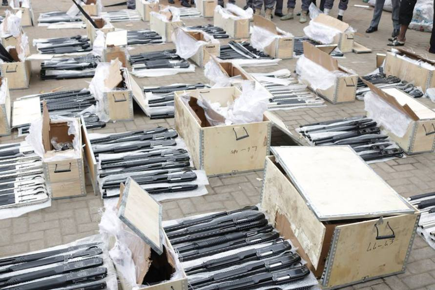 Photo of Customs intercepts 440 arms, ammunition of various designs