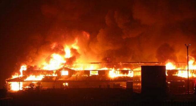 Photo of Mysterious fire guts NYSC camp in Rivers State