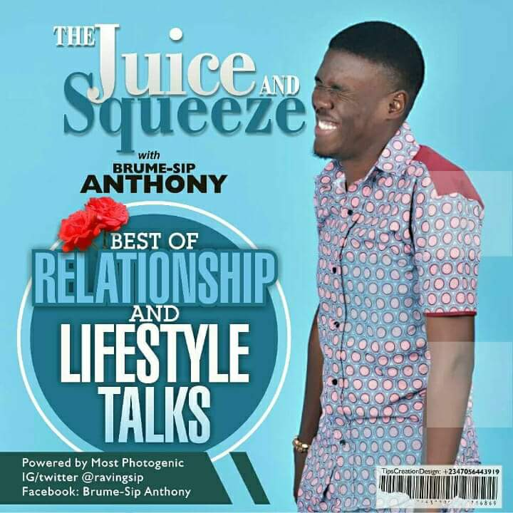 Photo of JUICE AND SQUEEZE WITH BRUME-SIP ANTHONY ; VIRGIN  MONOLOGUES ( PART2)