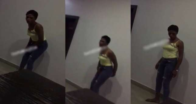 Photo of Prostitute disgraces customer in Akure hotel after he refuses to pay her [watch video]