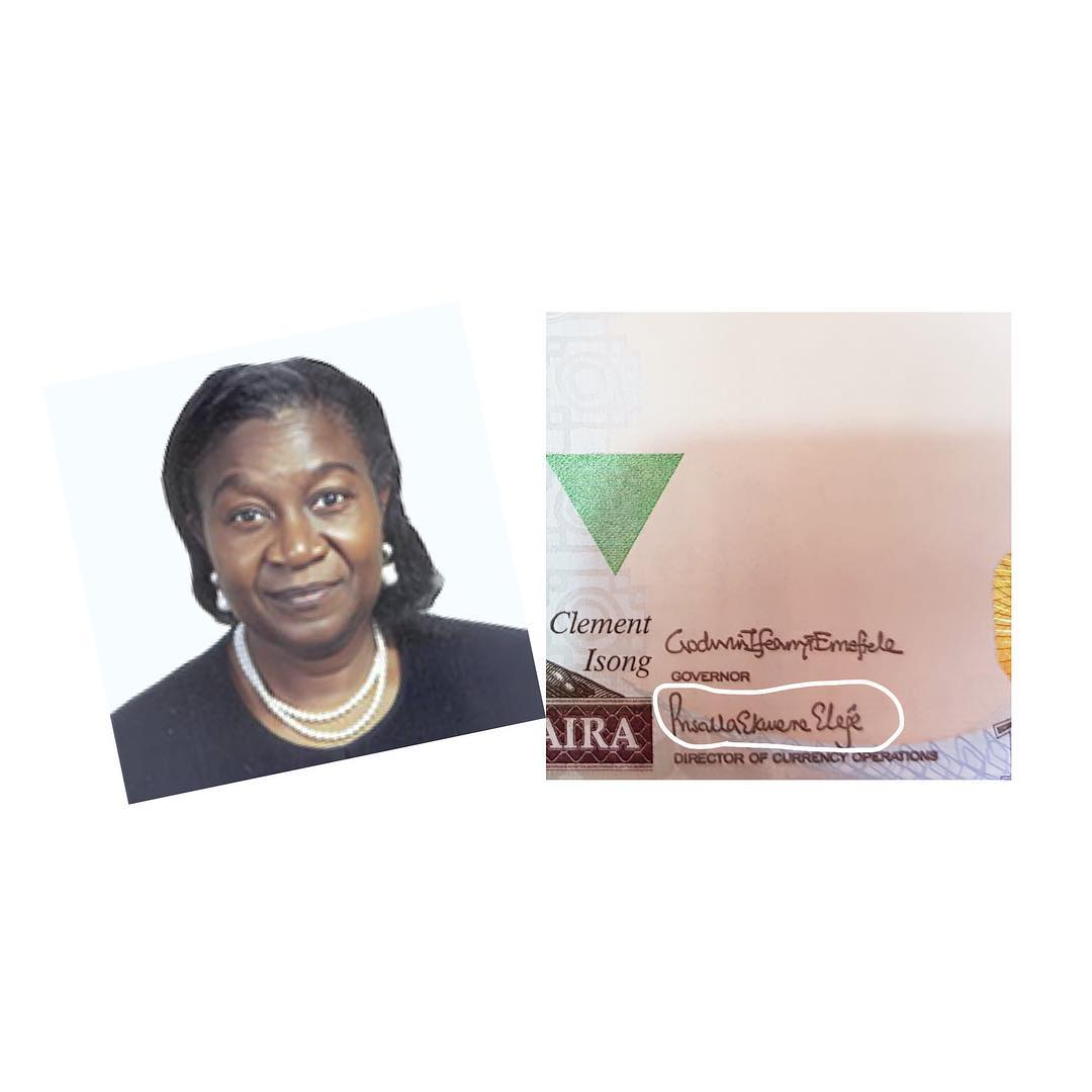Photo of First female to sign N1000 note in Nigeria