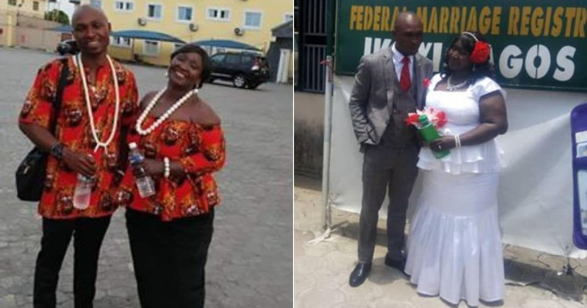 Photo of 29-year-old Nigerian man marries 61-year-old woman