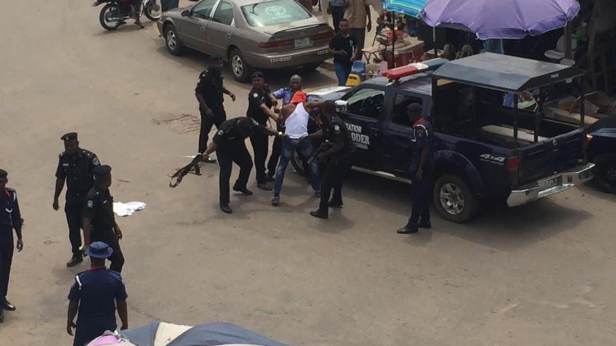 Photo of One dead as Police clash with cult group in Delta
