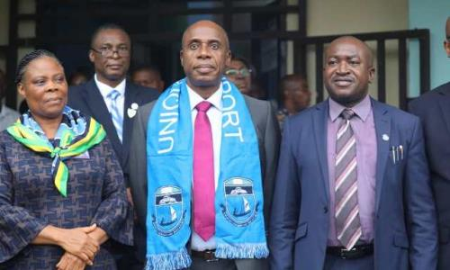 Photo of UNIPORT Honours Amaechi